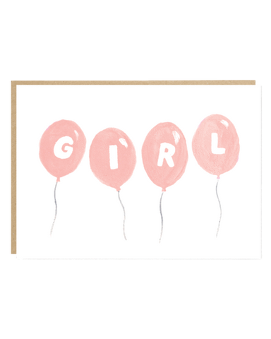 Girl Baby Greeting Card