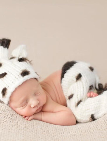 Giraffe Knit Newborn Set