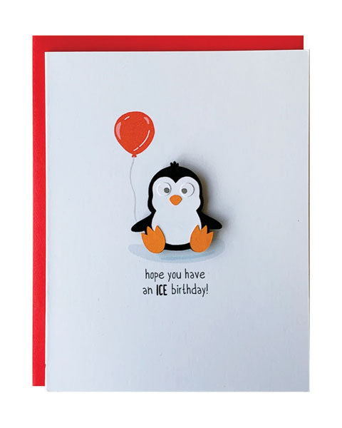 Penguin Birthday Greeting Card