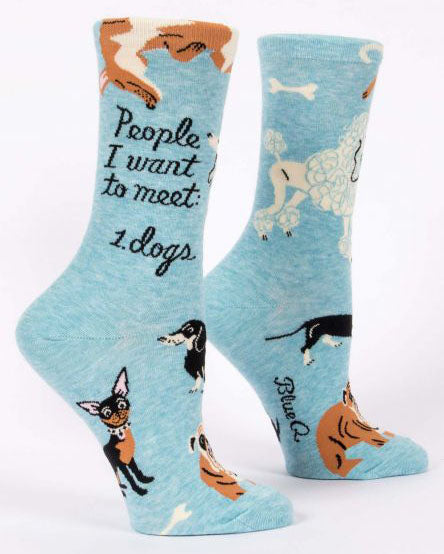 People I Want to Meet: Dogs Women's Crew Socks