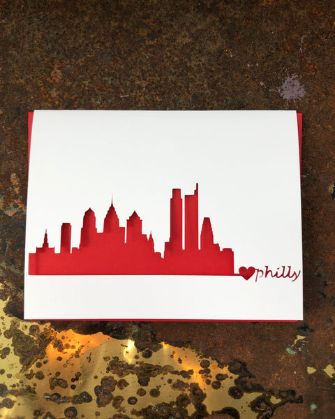 Philly Skyline Greeting Card