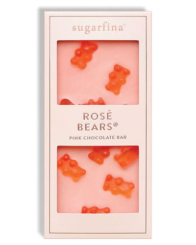Sugarfina Rosé Bear Pink White Chocolate Bar