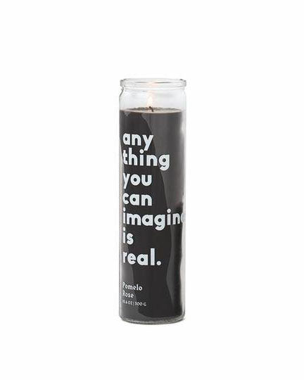 "Paddywax Large Spark Prayer Candle- ""Any Thing You Can Imagine"" Pomelo Rose"