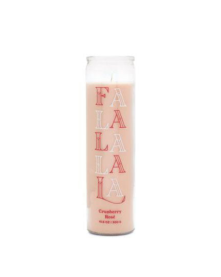 "Paddywax Large Holiday Spark Prayer Candle- ""Fa La La"" Cranberry Rosè"