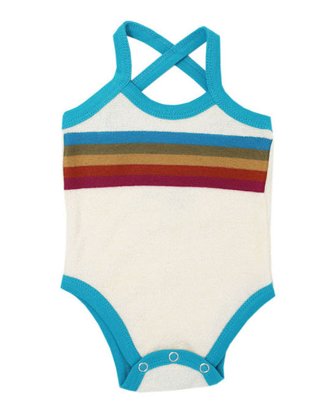 L'ovedbaby Organic Terry Cloth Bodysuit- Teal
