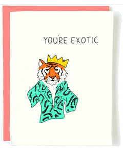 Tiger King Greeting Card