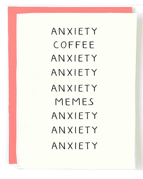 Anxiety Greeting Card