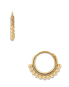 Audrey Mini Hoop Gold Earrings