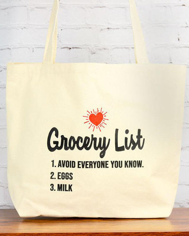 Avoid Every One Grocery List Tote Bag
