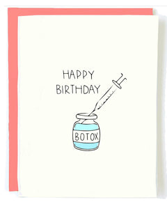 Botox Birthday Greeting Card