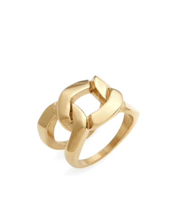 Brooklyn Chain Gold Ring
