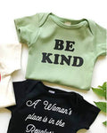 Be Kind Baby Organic Onesie (Sage Green)