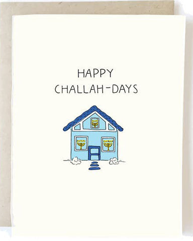 Happy Challah-Days Holiday Greeting Card