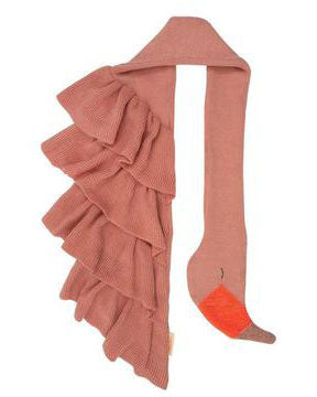 Kid's Knit Flamingo Scarf