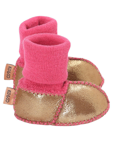 Kip & Co Gold Baby Booties