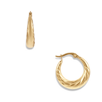 Rhett Small Gold Hoop Earrings