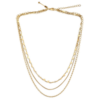 Mabel Star Multi Chain Gold Necklace