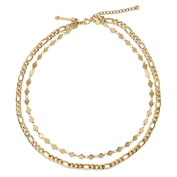 Jayce Double Chain Gold Necklace