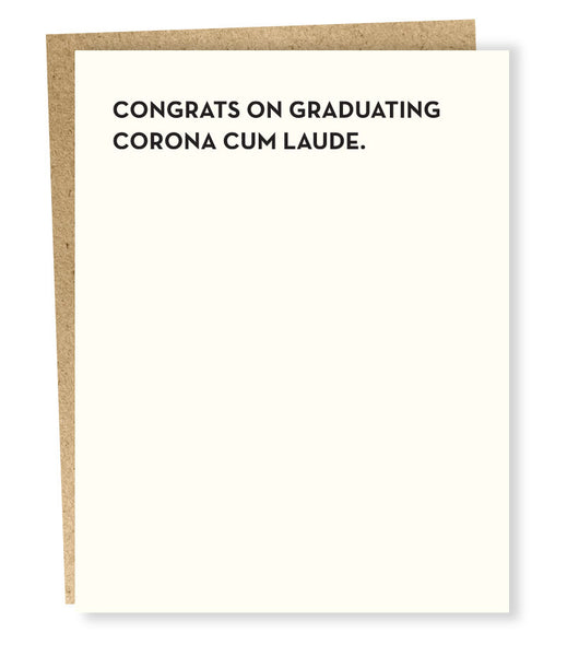 Corona Cum Laude Graduation Greeting Card