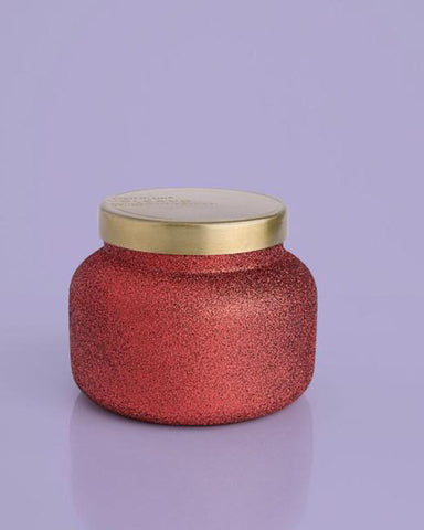 Capri Blue 19oz Volcano Red Glitter Glam Candle