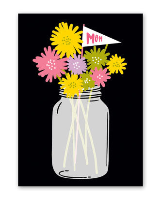 Mason Jar Mother's Day Greeting Card