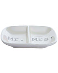 Mr. & Mrs. Ceramic Ring Dish