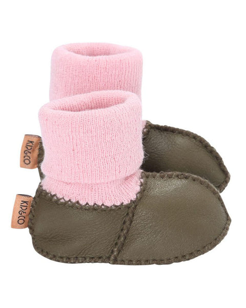 Kip & Co Olive Baby Booties