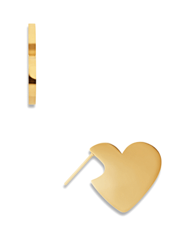 Rayna Gold Heart Earrings