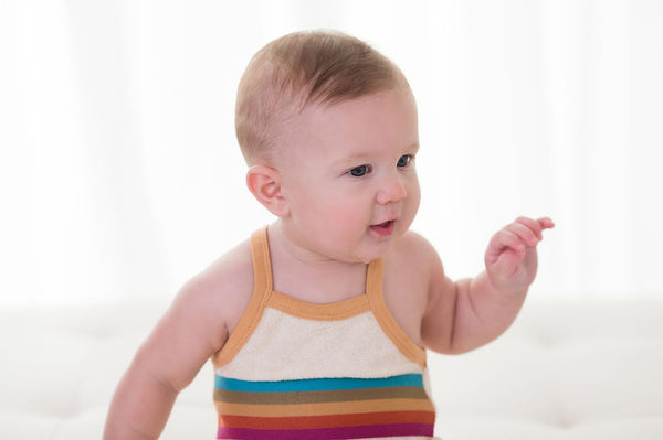 L'ovedbaby Organic Terry Cloth Bodysuit- Honey