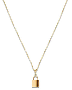 Uma Lock Gold Necklace