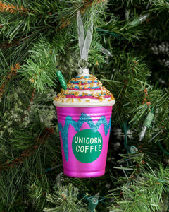 Unicorn Coffee Ornament