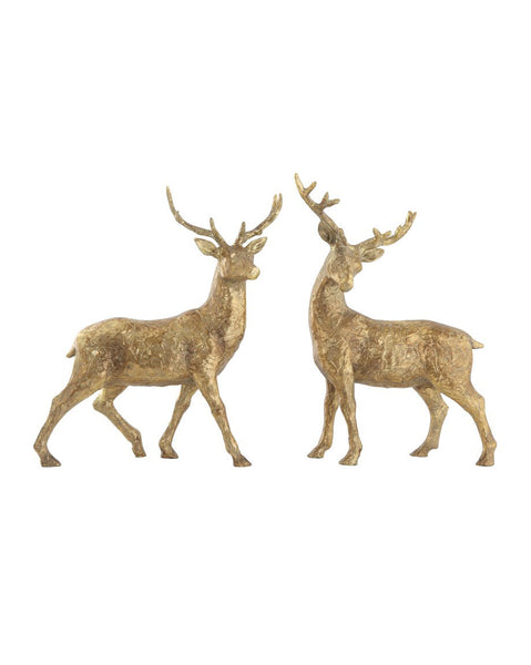 Standing Gold Deer (Set of 2)