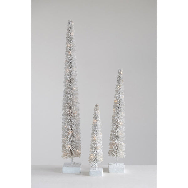 "17.5"" Tall White LED Lit Tree"