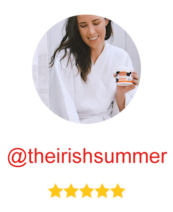 influencer @theirishsummer rates the product 5 stars