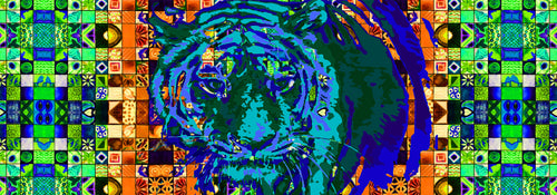 Tyger, Tyger on Blue and Orange