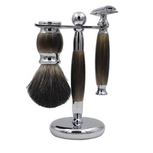 Faux Horn Safety Razor Set 3-Pc Kit