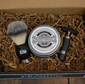 Maxwell 3pc Safety Razor Set w/ Premium Brush, by KC Shave Co.