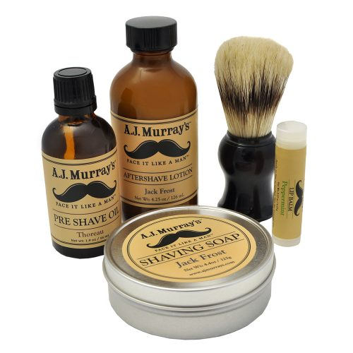 Deluxe 5-pc Shaving Set, by A.J. Murray's