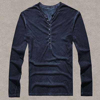 Vintage Henley Long Sleeve Shirt