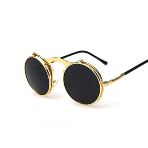 Steampunk Round Men's Sunglasses