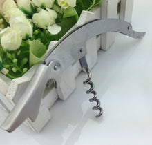Stainless Steel Wine Opener With Folding Knife