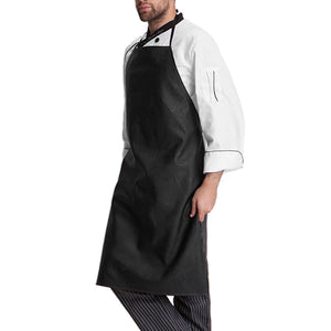 Faux Leather Bartender Apron - Optional Arm Cuffs