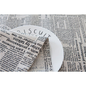 Retro Newspapers Pattern Table Cloth Cotton Linen