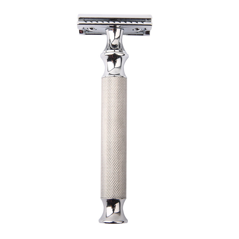 Long Handled Classic Safety Razor - Stainless Steel Chrome