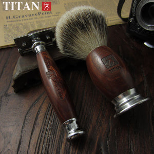 Classic 3pc Safety Razor w/ Leather Case, by Titan Razor