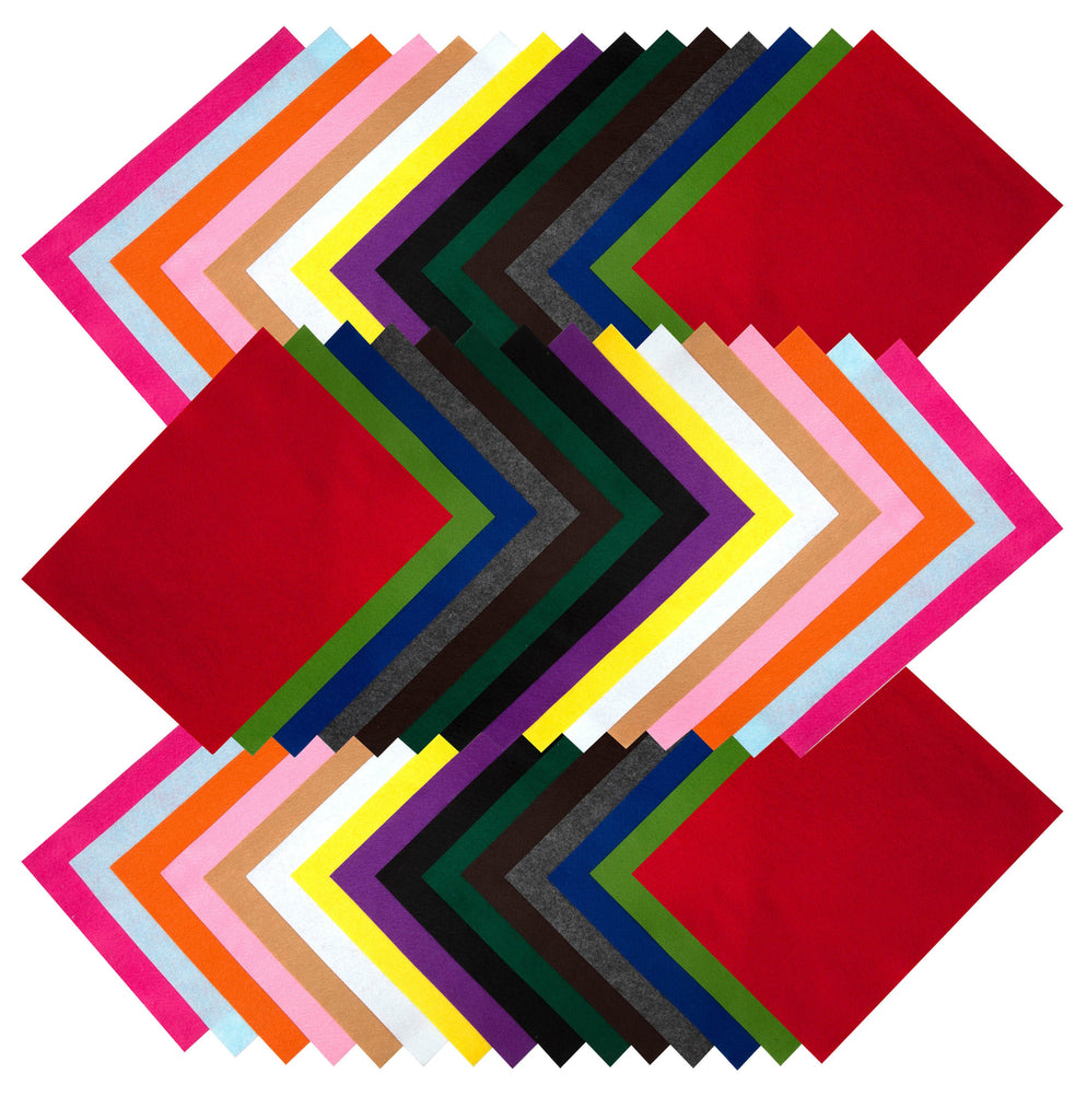 10 A4 Sheets of Assorted Colour Felt New New