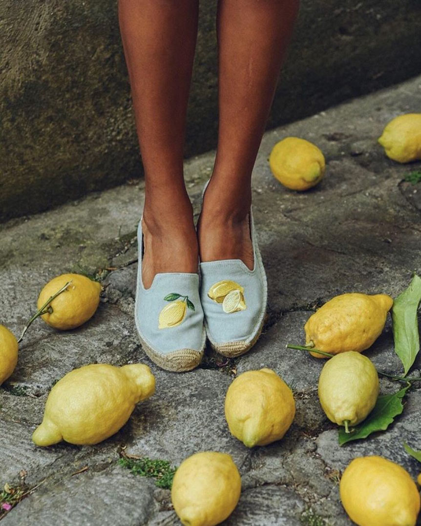 Lemon Platform Smoking Slipper lifestyle image