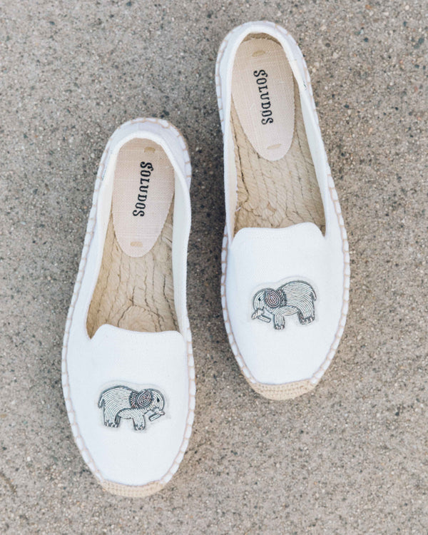 Elephant Beaded Platform Smoking Slipper image
