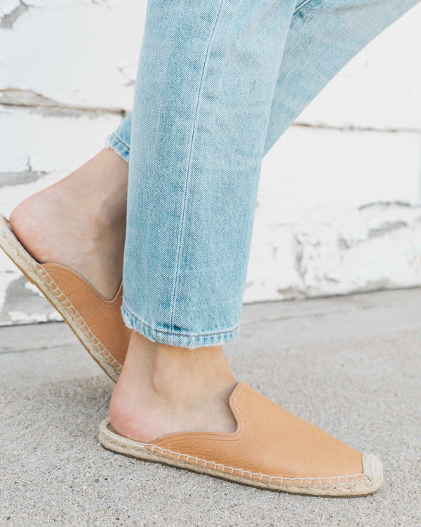 Tumbled Leather Mule image