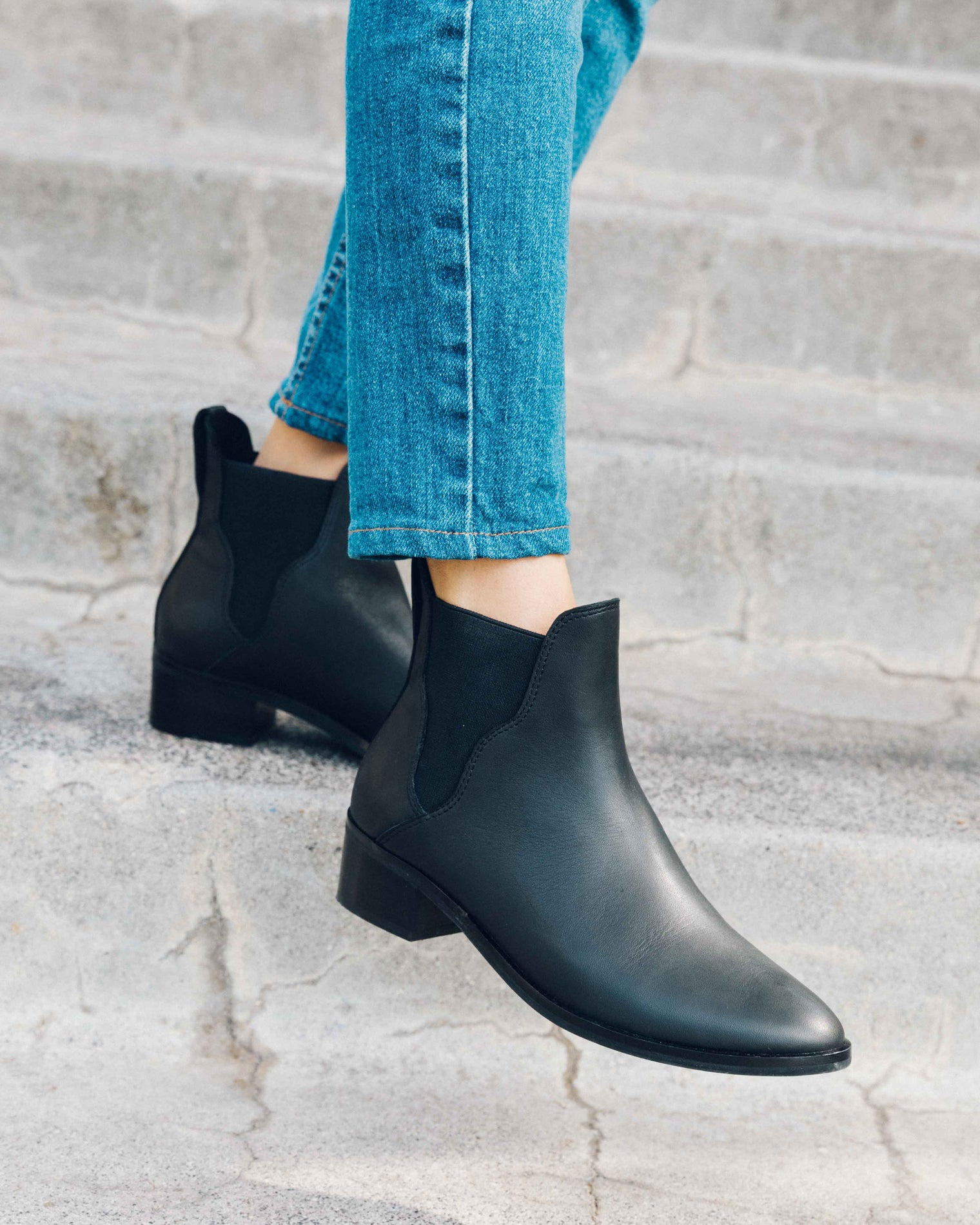 Marfa Leather Chelsea Bootie black